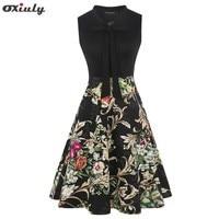 Women-Black-Patchwork-Polkat-Dot-Multicolor-Floral-Dresses-Elegant-Sleeveless-A-Line-Dress-Ladies-Tie-Neck.jpg_200x200