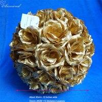 2pcs 30cm Artificial Silk Flower Ball For Wedding Table DecorEvent Party Supplies Hanging Pomander Boule de fleurs artificielles