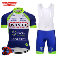 Crossrider 2018 Pro Team WANTY Cycling Jersey Set MTB Bicycle Clothing Men Short Ropa Ciclismo Bike