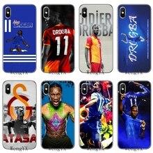Didier Drogba footballer Тонкий Силиконовый ТПУ мягкий чехол для телефона для Apple iPhone 4 4S 5 5S 5c SE 6 6s 7 8 plus X XR XS Max