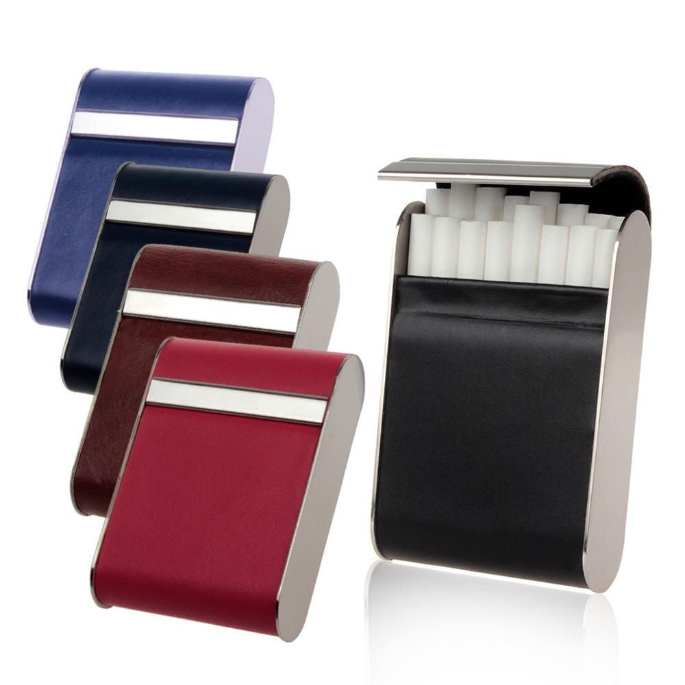 FIREDOGยี่ห้อหนังแท้ถือ16ชิ้นบุหรี่กรณีบุหรี่สูบบุหรี่อุปกรณ์โลหะบุหรี่กล่องผู้ถือCL57