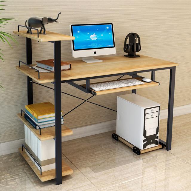 A Forma moderna Simples Estilo De Escrita Desktop Mesa de Estudo Mesa de Escritório Em Casa Mesa Do Computador Portátil Mesa Do Computador Em Pé