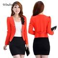 New Fashion Blazer Women Slim Blazer Feminino Lady Tops Suit Flower Short Women Blazers and Jackets Jaqueta Feminina
