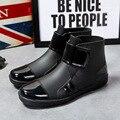 Сгустите водонепроницаемый дождь сапоги непромокаемые зимние ботинки дождя мальчика воды резиновые сапоги botas крюка и петли 24.5-27 см ноги