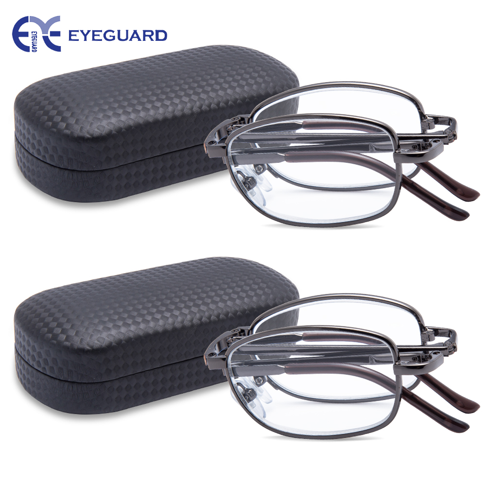 EYEGUARD Reading Glasses Metal Folding Readers Gun Women Men Classic Foldable glasses Unisex