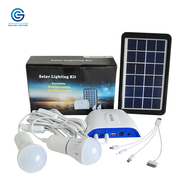Goland Century SG0403W 6V 3W Solar Lighting System Small DC Solar Generator With 4.4AH Rechargeable Lithium Battery For Outdoor 1