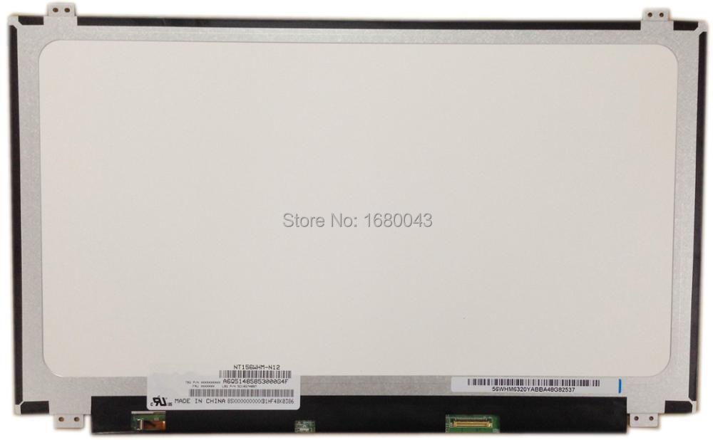 NT156WHM-N12 Fit LP156WH3(TP)(S1) N156BGE-EA1 B156XTN03.1 N156BGE-EA2 B156XTN04.0 Slim LED 15.6 EDP 30pin Screen Glossy