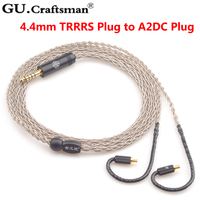 GUcraftsman 6N серебро 8 core ATH LS200is LS300is LS400is E70 E50 LS70is A2DC 2,5 мм/4,4 мм Баланс кабель для наушников