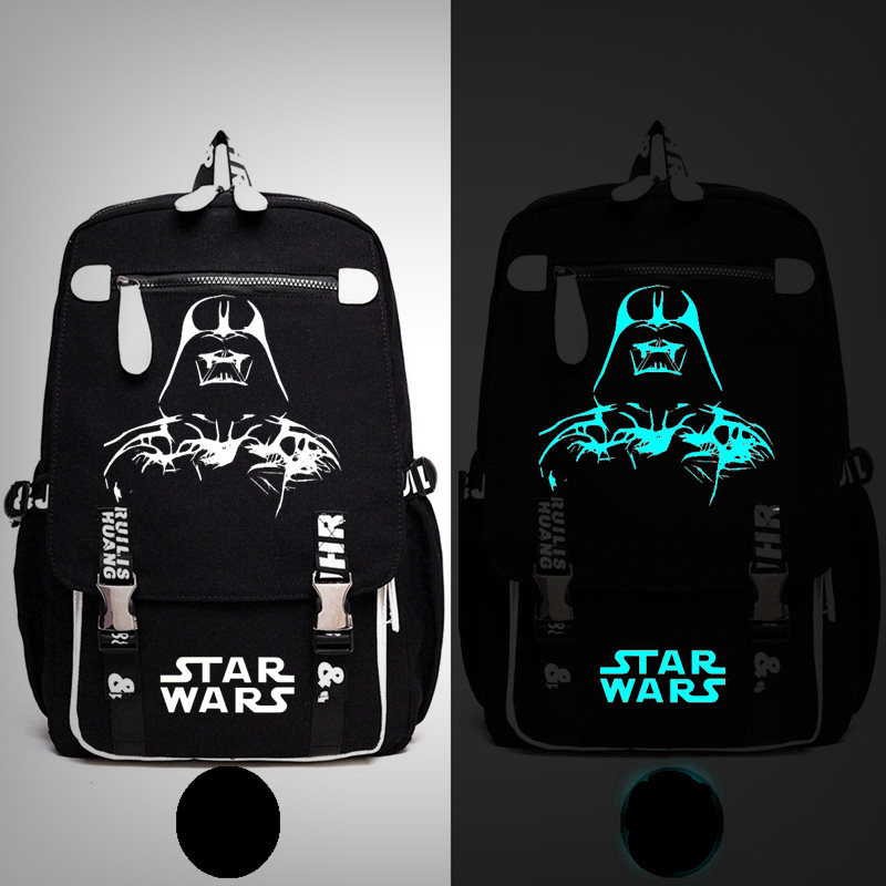 Star Wars Keep Calm Darth Vader Backpack Messenger Luminous Bag School Travel Bags Anime Gift