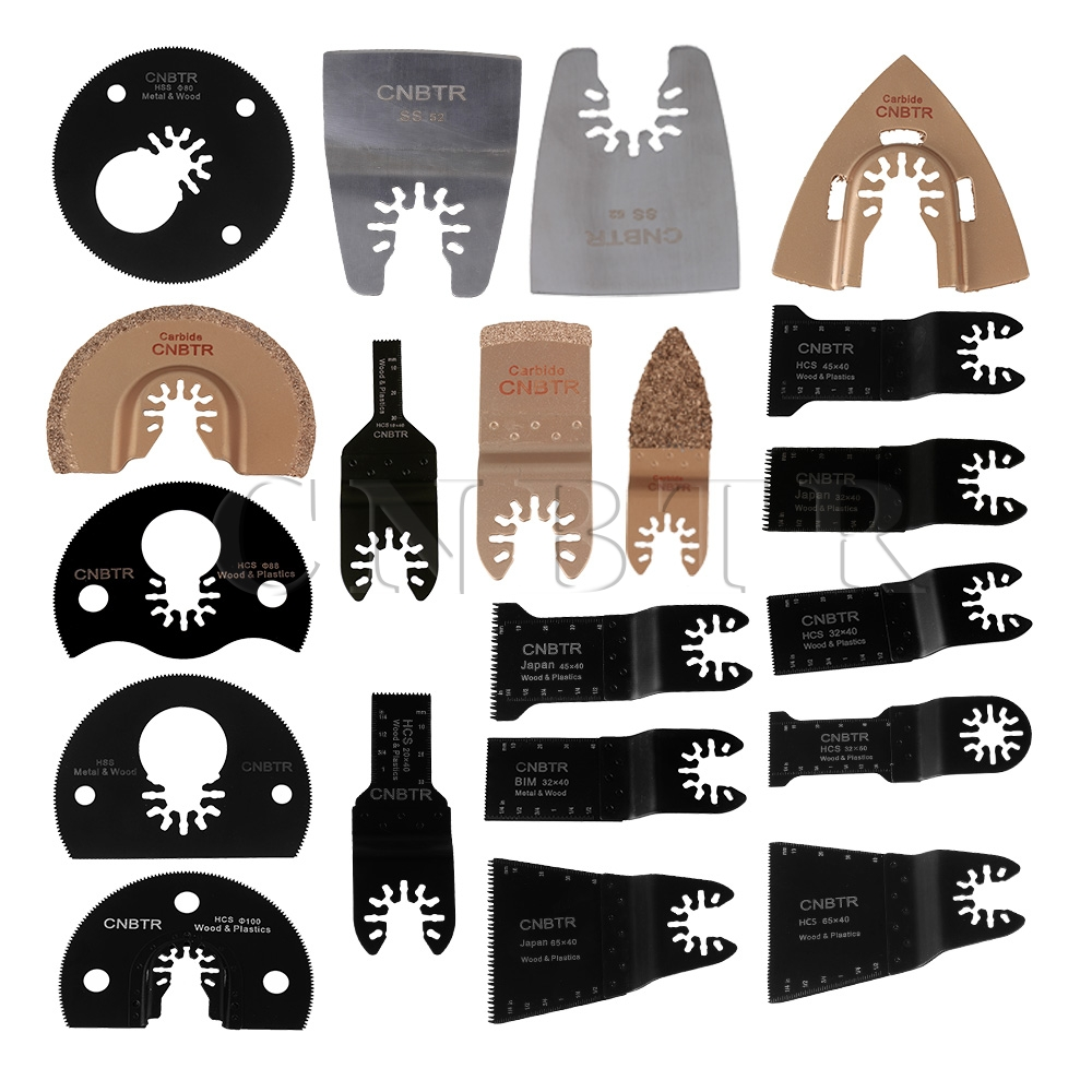 ФОТО 20PCS CNBTR Quick Release Oscillating Saw Blades & Carbide Grout Rasp & Scraper