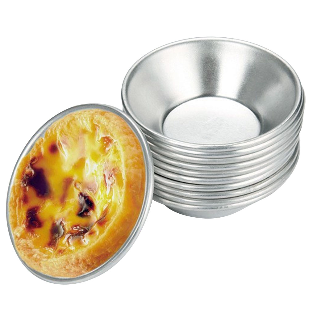 20 Pcs New Egg Tart Baking Tools Egg Tart Tray Baking Mold Cupcake Tray Aluminum Alloy  Home Kitchen Accessories Tools