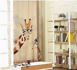 Image 2 - Cortinas personalizadas pastorales para pequeñas jirafas frescas, estudio, comedor, dormitorio, sala de estar, cortinas de ventanas