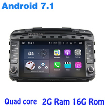 Android 7.1 Car dvd gps player for kia sorento 2015-2017 with 2G RAM rds wifi 4G usb bluetooth mirror link auto Stereo