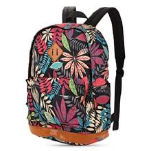 Мода Цветочный Печати Холст Рюкзак Опрятный Стиль Ранцы для Девочек-Подростков sac dos Женщины Рюкзаки Mochila Feminina
