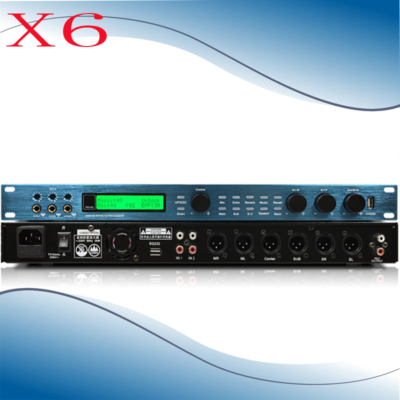 X6  High Power Front Effects Digital Front Effects KTV Digital Effects Anti-whistle Equalization Effect AmplifierX6  High Power Front Effects Digital Front Effects KTV Digital Effects Anti-whistle Equalization Effect Amplifier