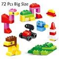 72 unids tamaño grande ladrillos ciudad diy creativo wange ladrillos de bloques de construcción ladrillos de juguetes educativos para niños compatibles con lego duplo