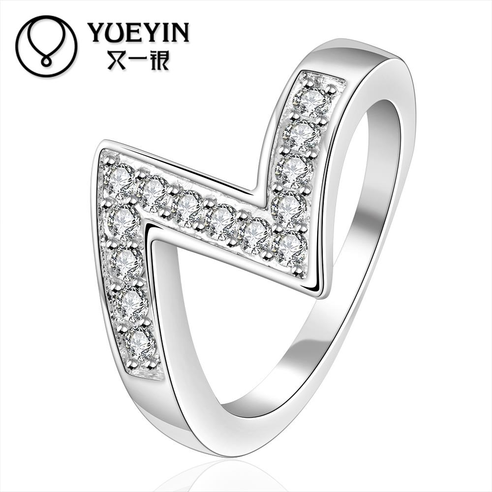 R154 2015 Silver Plated Women's Double Circle Rings The New Allergy Free  Valentine's Day Gift Ideas