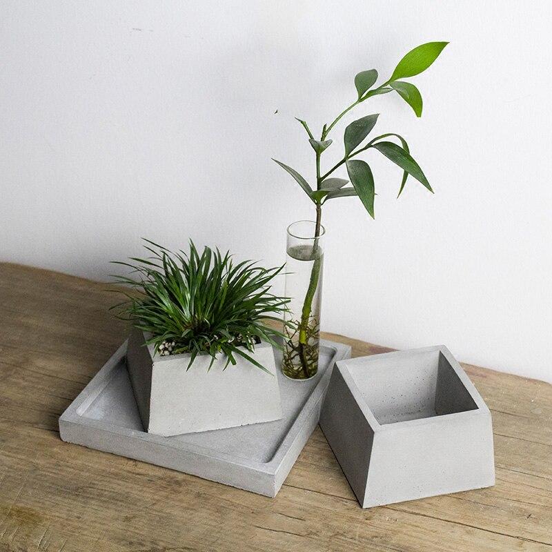 Geometric flower pot silicone molds DIY garden planter ...