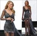 2017 Fashional Celebridade No Tapete Vermelho Vestido Gossip Girl Blake Lively vestido Full Lace Vestido Formal Vestidos de Celebridades