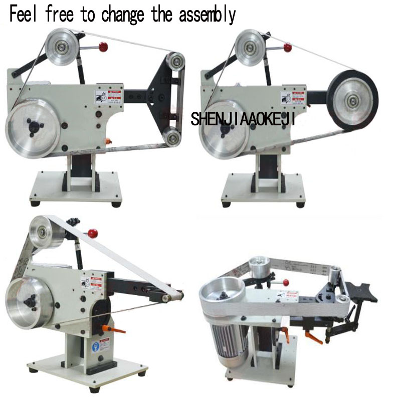 Small Vertical and horizontal type <font><b>belt</b></font> machine Abrasive <font><b>belt</b></font> polishing machine triangle wire drawing polishing machine 220V image