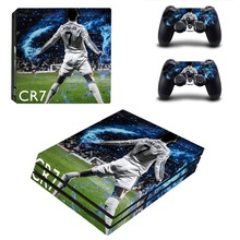 Cristiano Ronaldo PS4 Pro Skin Sticker Decal Vinyl for Playstation 4 Console and 2 Controllers PS4 Pro Skin Sticker