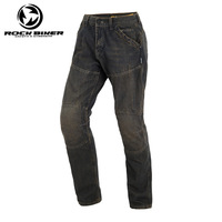 ROCK BIKER Loose Cotton Denim Jeans Motorcycle trousers pantalon moto hombre equipamento motocross racing pants