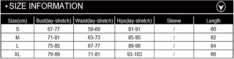 Size Chart of Backless Ruched Wrap Bodycon