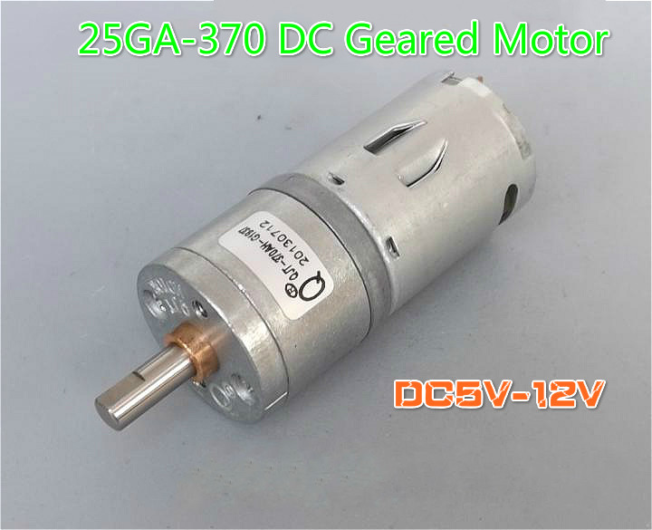 50pcs lot 25ga370 dc geared motor metal gear micromotor for Low speed dc motor 0 5 6 volt