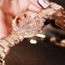 Luxury Rose Gold Women Watches Mesh Starry Sky Ladies Watch 2019 Fashion Diamond Roman Numeral Quartz Watch Relogio Feminino mesh steel strap roman numeral watch