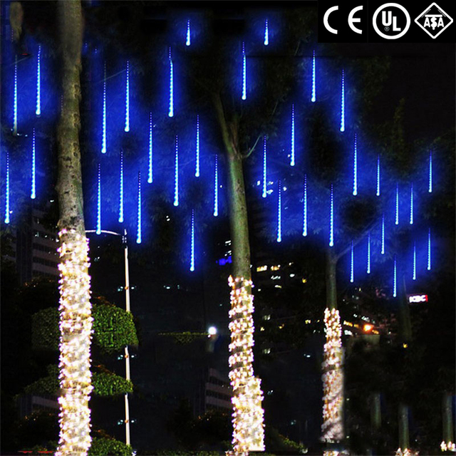 Connectable Multi color Meteor Tube Meteor Shower Rain String LED ...