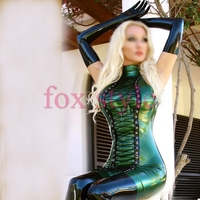 New Arrivals sexy latex party dress sexy latex gloves rubber stocking