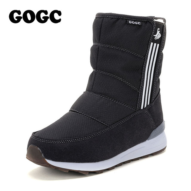 GOGC Waterproof Ankle Boots for Women Warm Snow Boots 2018 Fashion Winter Boots Women with Fur Plush Big Size Winter Shoes Women