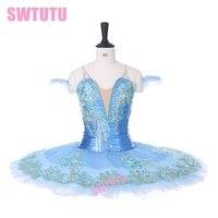 Adult blue sleeping beauty ballet tutu for sale women pancake blue classical professional ballet tutu fairy BT9130