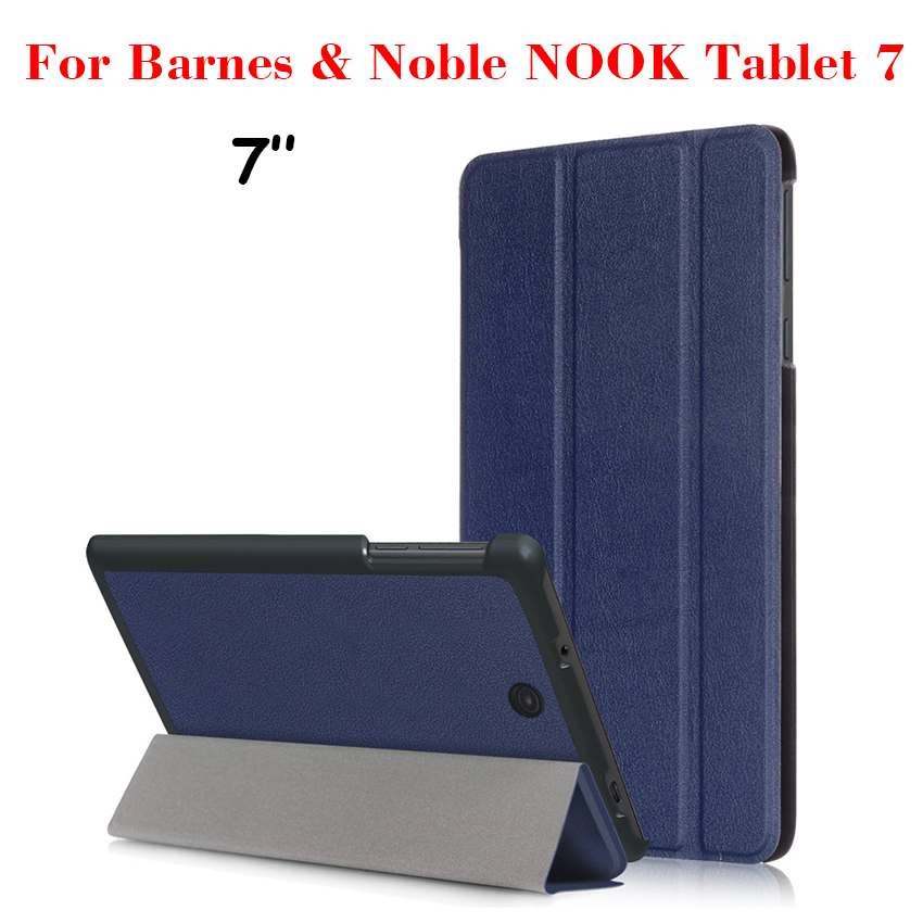 NOOK Tablet 7 PU Leather Case Flip Ultra-Slim Smart Tablet Case Cover Skin For Barnes&Noble NOOK Tablet 7 Protective Stand Shell ...
