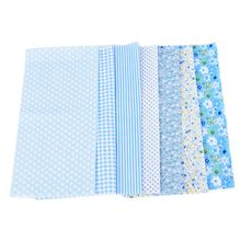 52d9904edf Hoomall 7 Pçs/set 25*25 cm Azul DIY Patchwork Tecidos Para Costura O Pano  Do Bebê Quilting Tecido de Algodão Sentiu para Costura