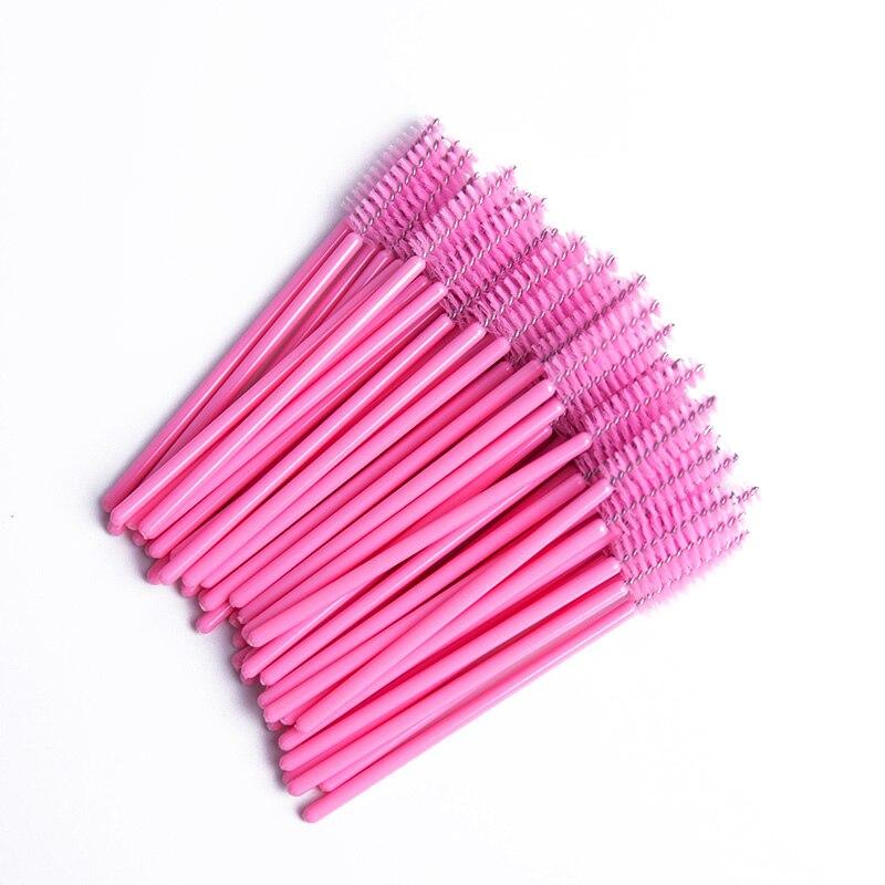 300pcs Disposable Eyelash Brush Mascara Wands  Mini Lashes Brushes Mascara Applicator Micro Brushes for Eye Lash Make up Brush