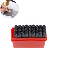 DoreenBeads 2 5mm Carbon Steel Black Alphabet A Z Rectangle Punch Metal Stamping Tools 59mm