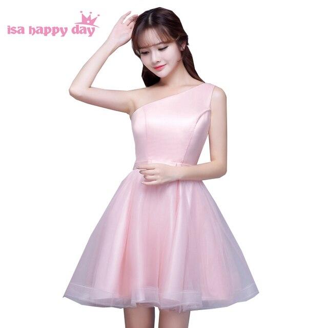 1b33d5ff3e0d Signore elegante damigella d onore di colore rosa cameriera moderno una  spalla sorella della cameriera