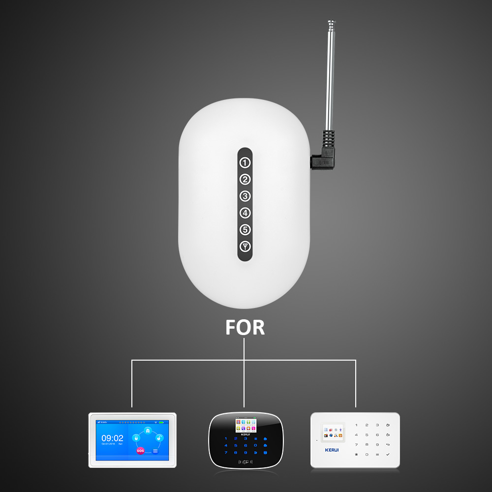 433MHz Kerui Wireless Signal Repeater Transmitter Sensros Signal Expander Booster Extender For Home Alarm Security System golden security wireless signal repeater booster extender dual antenna transfer for home alarm security system 433mhz