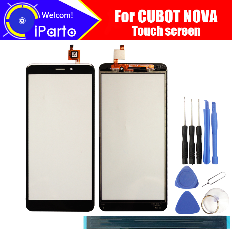 CUBOT NOVA Touch Screen Glass 100% Guarantee Original Glass Panel Touch Screen Glass  For CUBOT NOVA