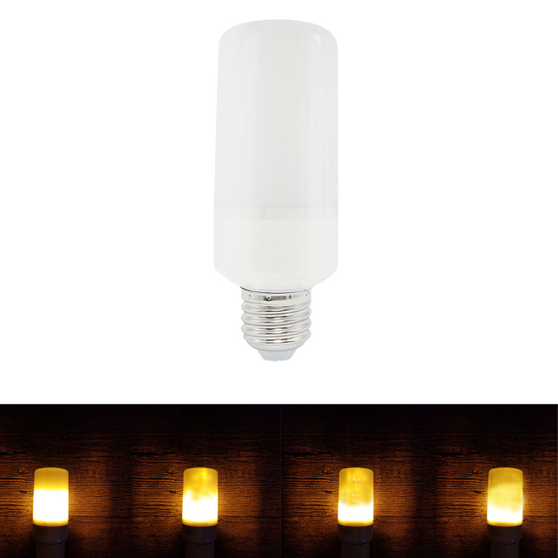 1pcs New E27 LED Flame Effect Fire Light Bulb AC 85-265V SMD 2835 LED Fire Flame Flicker LED Lamp Candle Light for Home Decor