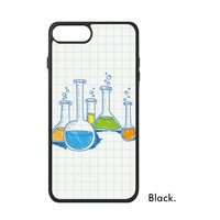 Chemistry Science Chemical Apparatus Laboratory Element Pattern Quote Phone Case For IPhone X 7 8 Plus