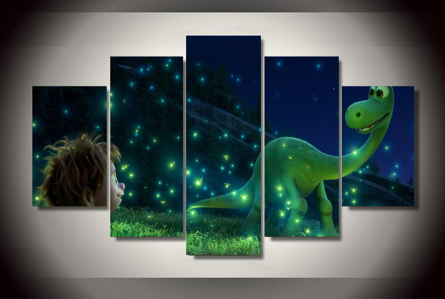 Hd Printed Cartoon The Good Dinosaur Human Painting On Canvas Room Decoration Print Poster Picture Free Shipping Aa 4021 In Calligraphy