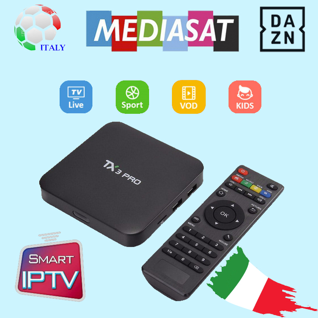 Italian Iptv Smart Tv Box TX3pro 1G 8G With 1 Year Iptv
