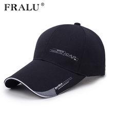 FRALU спортивные кепки мужская шляпа для рыбы Открытый Мода линии Бейсбол с длинным  козырьком полями тенты 127dbc9d5a03b