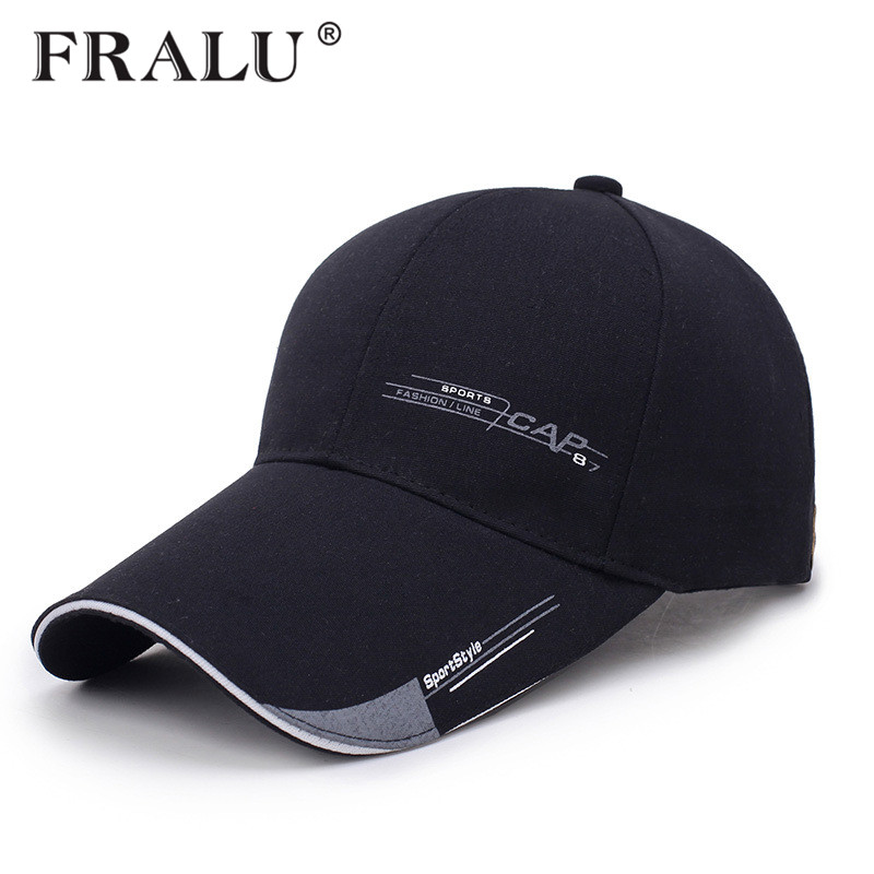 FRALU Sports   Cap   Mens Hat For Fish Outdoor Fashion Line   Baseball     Cap   Long Visor Brim Shade Snapback Sun Hat Bone Gorras