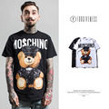 High quality brand summer male hip hop T shirt fashion funny lovely leather bear new toy cotton casual short-sleeve men T-shirt