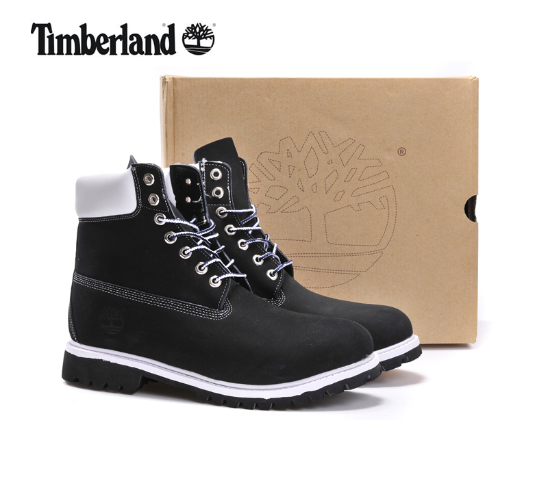 Men Timberland Black White TB Army Ankle Martin Motorcycle Boots,Man Military Leather Outdoor Timber Walk Punk Shoes 40-45