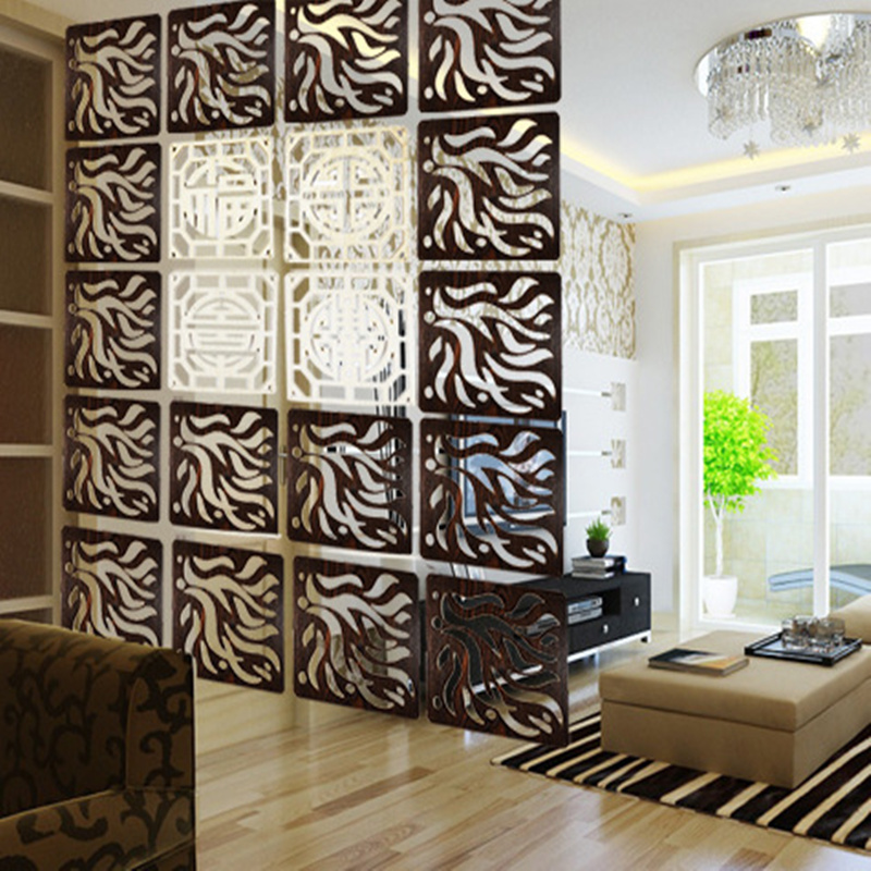 Order 6 Pieces Entranceway Hanging Wooden Carved Cutout Carving Room Divider Partition Wall Biombo Dividers Partitions 29cmx29cm