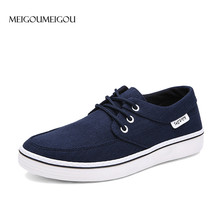 MEIGOUMEIGOU Hot Sell Men Vulcanize Shoes Spring Big Size Sneakers Men Breathable Footwear Casual Shoes Male Canvas Loafers